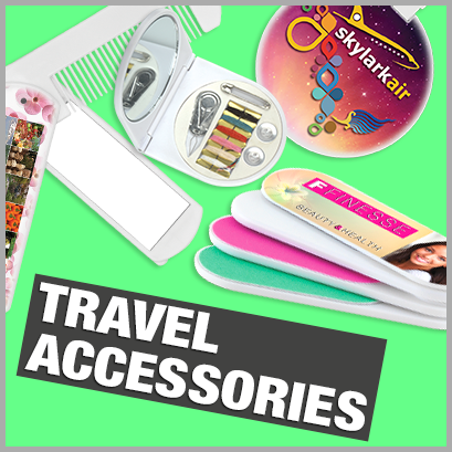 Travel Accessories personalised with print